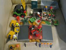 Playmobil Bau Konvolut mit Figuren und viel Zubehör               .