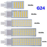 G24 LED Lights Corn Bulb Horizontal Plug Lamps 5050SMD Lighting 5W-13W 85~265V