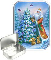 Vintage Santa Gift Box,Gift Tin, 30ml Small Tin,Pill Tin,Storage