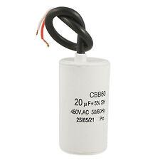 CBB60 20uF Wire Lead Cylinder Motor Run SH Capacitor AC 450V LW