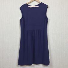 Hobbs Shift Dress Size 16 UK Ruched Dark Violet Sleeveless Work Office Formal
