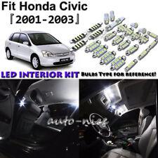 8x White LED Interior Lights Package Kit For 2001 2002 2003 Honda Civic