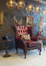 Ohrensessel Sessel Fernseh Design Polster Sofa Couch Chesterfield Textil Neu 342