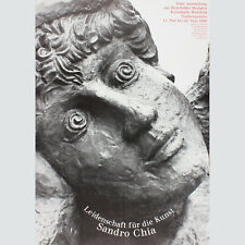 Sandro Chia. Leidenschaft für die Kunst. Ausstellungsplakat Bielefeld 1986