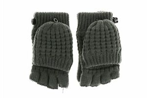 The North Face 173709 Girls Kids Waffle Flip Mittens Gray Size Small/Medium
