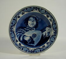 Teller Plate  Delfts Blauw Ram Holland Art Pottery Lautenspieler Frans Hals