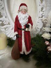 Santa Claus Decorative Figure Christmas Shabby Chic Deco