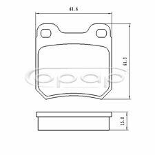 Bremsbelagsatz, Scheibenbremse, Hinterachse für Opel, Saab, BB08176