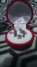 xmas, nativity, collectable, silver, rose, box, red,new, gift,velvet,
