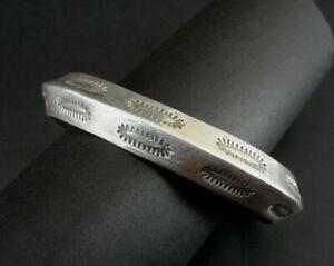 Bracelet Cuff Sterling 925 Silver Vintage 77 Grams Signed Men's Native Stamped