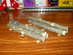 O-S-narrow gauge real saw logs load for logging or flatcars hand made 2 sets