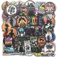 100Pcs Anime Dragon Ball Z Super Saiyan Goku Sticker Decals For Weishu