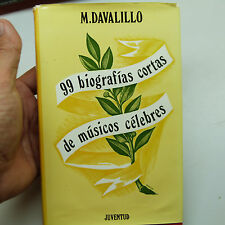 $5 Blow-Out Sale: 99 biografias cortas de musicos celebres by M. Davalillo (b1)
