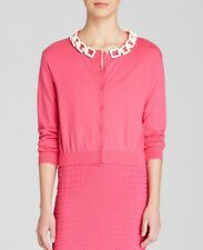 MOSCHINO womans pink cardigan bone chain perfect condition