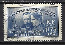 France 1938 Découverte du radium Yvert n° 402 oblitéré 1er choix (3)