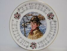 """""""While Shepherds Watched"""" 1984 Royal Doul 00002Be5 ton Christmas Carols Plate"""