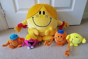 MR MAN & LITTLE MISS PLUSH BUNDLE soft toy SUNSHINE happy MR TICKLE chatterbox