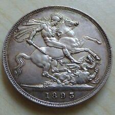 1893 Crown Queen Victoria sterling Silver Nice Grade Proof like (myrefn15655)