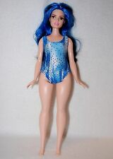 Blue dots print Swimsuit handmade Curvy Barbie Fashionista Doll Clothes by TKCT