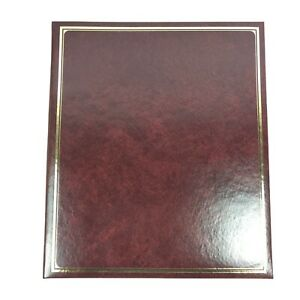 "C.R. Gibson Heritage Burgundy Photo Scrapbook S53C1 Size 14""x12"" Archival Grade"