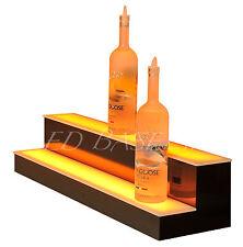 """32"""" LED LIGHTED BAR SHELVES, Two Step, LED Liquor Bottle displ, Display Shelving"""