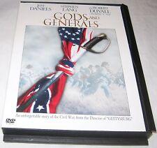 Gods and Generals DVD 2003 Stephen Lang Robert Duvall Jeff Daniels Free Ship USA