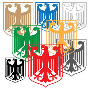 German Eagle Sticker, Laptop Vinyl Decal. Car Bumper Sticker, 18 Colours.