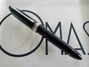 OMAS 360 BLACK AND RHODIUM TRIM  ROLLER BALL *NEW CONDITION*