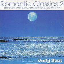 ROMANTIC CLASSICS 2  – PROMO CD: 20 TRACKS -  BEETHOVEN MOZART BRUCH PUCCINI ETC