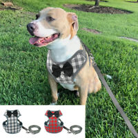 Soft Mesh Dog Vest Harness and Lead for Small Medium Dogs Pet Puppy Cat Red Grey