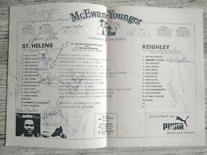 18/11/84 Saints Rugby Programme St Helens v Keighley Teams Autograph Mal Meninga