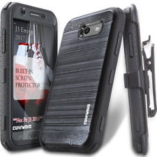 Samsung Galaxy J3 Full Body Case With Built-in Screen Protector Belt Clip Black