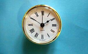 GERMAN 66mm BEZEL Quartz Clock  insert movement white Roman dial
