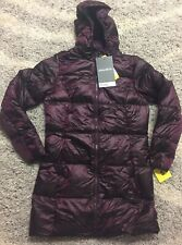 Eddie Bauer Womens Ladies Luna Peak Quilted Down Parka Jacket Purple Sz S
