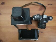 VINTAGE ZENIT EM MOSCOW OLYMPICS CAMERA.F2/58 HELIOS 44MM LENS. LEATHER CASE.