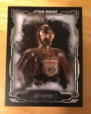 2016 Star Wars Masterwork C-3PO Short Print Base Card # 67