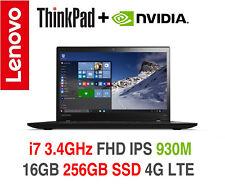 ThinkPad T460s i7 3.4GHz FHD IPS nVIDIA 930M 16GB 256GB 4G LTE OS Warranty T480s