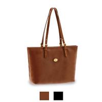 The Bridge Story Shopper 32 cm borsa donna 2 manici, cuoio marrone nero 04903501