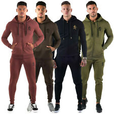 Gym King Mens Full Tracksuit Muscle Fit Hoodie Hooded Bottoms Gym Wear Joggers