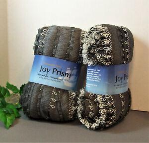 Joy Prism Plymouth Yarn, Steel Gray w/ Silver Shine, Knit Crochet Bulky Bin 9