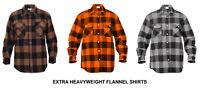 Buffalo Plaid EXTRA HEAVYWEIGHT FLANNEL Shirt Military Army USMC Hunting Camping