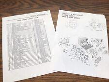 Sargent Greenleaf 6400 6500 Safe Vault Lock Diagram Parts