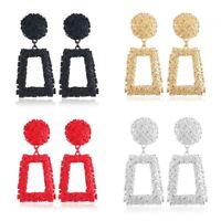 Geometrische Ohrringe Damen Anhänger Lang Metall Matt Trend Ohrringe Ksy Tsa_