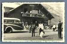 France, Col des Aravis, Les Rododendrons  Vintage silver print. Cartolina Postal