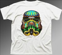 Stormtrooper Psychedelic Star Wars printed white t-shirt FN9373