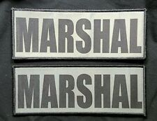 2 pack 3x8 Marshal Gunmetal Tactical Hook Chest Rig Plate Carrier Raid Patch
