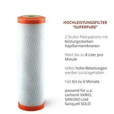 Superpure Wasserfilter - Hochleistungsfilter mit Turbogeschwindigkeit
