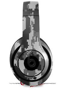 Skin for Beats Studio 2 3 Digital Camo Gray HEADPHONES NOT INCLUDED