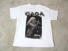 NEW Lady Gaga Concert Shirt Adult Extra Large White Pop Singer Band Tour Mens