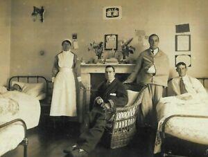 WW1 Photo Postcard Nurses Convalescence Home Alec Brook Southborough Kent 1918